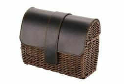 Huffy Woven Bike Basket with Lid, New