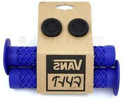 Cult X Vans FLANGED - Blue - BMX Bike Grips w/ End Plugs Waf