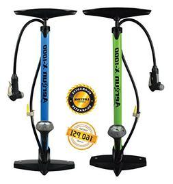 AerGun X-1000 Bike Pump - 160 PSI Bicycle Pump with Pressure