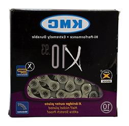 KMC X10.93 10 speed 116 links Bicycle Chain, Silver/Grey  3-