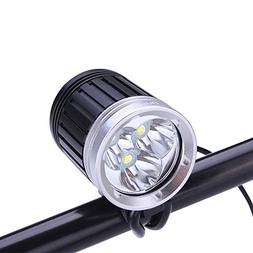 SecurityIng 3 x XM-L T6 LED 1800Lm LED Headlamp & Bicycle Li