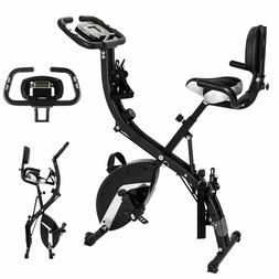 Xspec Foldable Stationary Upright Folding Exercise Bike Work