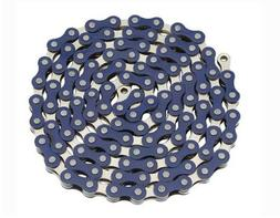 YBN Chain 1/2x1/8x112 Blue/Chrome. for bicycle Chain, bike c