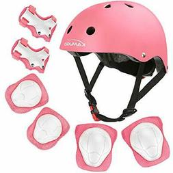 KAMUGO Kids Helmet Knee Pads for Kids 3-8 Years Toddler Helm