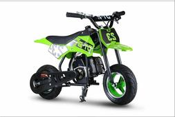 Youth Kids Dirt Bike Green Gas Powered Motor 51 CC 2 Stroke