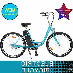 YT 26'' Wheel 350W Electric Beach Cruiser Power Bike with AG
