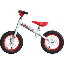 """ZÜM 12"""" Red & White Balance Bike For Ages: 3+, Rubber Hand"""